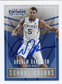 ANDREW HARRISON UNIVERSITY OF KENTUCKY WILDCATS AUTOGRAPHED ROOKIE BASKETBALL CARD #50316C