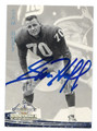 SAM HUFF NEW YORK GIANTS AUTOGRAPHED FOOTBALL CARD #50416B