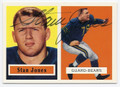 STAN JONES CHICAGO BEARS AUTOGRAPHED FOOTBALL CARD #50616C