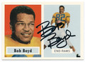 BOB BOYD LOS ANGELES RAMS AUTOGRAPHED FOOTBALL CARD #50816B