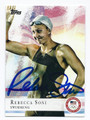 REBECCA SONO OLYMPIC SWIMMING AUTOGRAPHED CARD #50816E