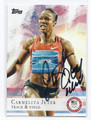 CARMELITA JETER OLYMPIC TRACK & FIELD AUTOGRAPHED CARD #51016A