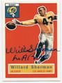 WILLARD SHERMAN LOS ANGELES RAMS AUTOGRAPHED FOOTBALL CARD #51016C