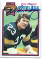 MIKE WAGNER PITTSBURGH STEELERS AUTOGRAPHED VINTAGE FOOTBALL CARD #51216D