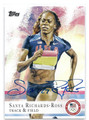SANYA RICHARDS-ROSS AUTOGRAPHED OLYMPIC TRACK & FIELD CARD #51316C