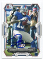 ODELL BECKHAM JR NEW YORK GIANTS AUTOGRAPHED FOOTBALL CARD #51416D
