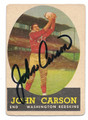 JOHN CARSON WASHINGTON REDSKINS AUTOGRAPHED VINTAGE FOOTBALL CARD #51516A