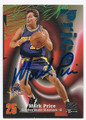 MARK PRICE GOLDEN STATE WARRIORS AUTOGRAPHED BASKETBALL CARD #51616F