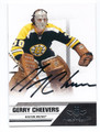 GERRY CHEEVERS BOSTON BRUINS AUTOGRAPHED HOCKEY CARD #52416E