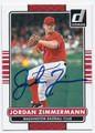 JORDAN ZIMMERMANN WASHINGTON NATIONALS AUTOGRAPHED BASEBALL CARD #52416F