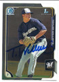 TAYLOR WILLIAMS MILWAUKEE BREWERS AUTOGRAPHED ROOKIE BASEBALL CARD #52516A