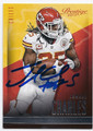 JAMAAL CHARLES KANSAS CITY CHIEFS AUTOGRAPHED FOOTBALL CARD #52516C