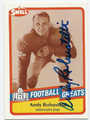 ANDY ROBUSTELLI AUTOGRAPHED FOOTBALL CARD #52616D