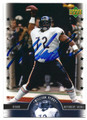 WILLIAM PERRY CHICAGO BEARS AUTOGRAPHED FOOTBALL CARD #52816F