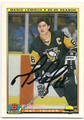 MARIO LEMIEUX PITTSBURGH PENGUINS AUTOGRAPHED HOCKEY CARD #53016C