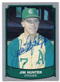 "JIM ""CATFISH"" HUNTER KANSAS CITY ATHLETICS AUTOGRAPHED VINTAGE BASEBALL CARD #53116D"