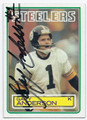 GARY ANDERSON PITTSBURGH STEELERS AUTOGRAPHED ROOKIE FOOTBALL CARD #60316F