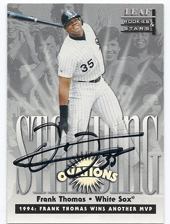 Frank Thomas Chicago White Sox Autographed Numbered Baseball Card 60516a