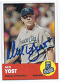 NED YOST KANSAS CITY ROYALS AUTOGRAPHED BASEBALL CARD #60716F