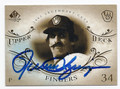 ROLLIE FINGERS MILWAUKEE BREWERS AUTOGRAPHED BASEBALL CARD #60816A