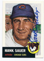 HANK SAUER CHICAGO CUBS AUTOGRAPHED BASEBALL CARD #60916A