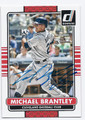 MICHAEL BRANTLEY CLEVELAND INDIANS AUTOGRAPHED BASEBALL CARD #60916B