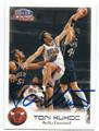 TONI KUKOC CHICAGO BULLS AUTOGRAPHED BASKETBALL CARD #61016A