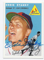 EDDIE STANKY ST LOUIS CARDINALS AUTOGRAPHED BASEBALL CARD #61116A