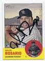 WILIN ROSARIO COLORADO ROCKIES AUTOGRAPHED ROOKIE BASEBALL CARD #61316B