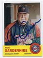 RON GARDENHIRE MINNESOTA TWINS AUTOGRAPHED BASEBALL CARD #61316E