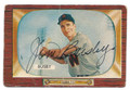 JIM BUSBY WASHINGTON SENATORS AUTOGRAPHED VINTAGE BASEBALL CARD #61516C