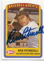 RICO PETROCELLI BOSTON RED SOX AUTOGRAPHED BASEBALL CARD #61616E