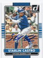 STARLIN CASTRO CHICAGO CUBS AUTOGRAPHED BASEBALL CARD #61916C