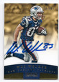 WES WELKER NEW ENGLAND PATRIOTS AUTOGRAPHED & NUMBERED FOOTBALL CARD #61916F