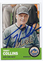 TERRY COLLINS NEW YORK METS AUTOGRAPHED BASEBALL CARD #62016E