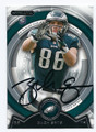 ZACH ERTZ PHILADELPHIA EAGLES AUTOGRAPHED ROOKIE FOOTBALL CARD #62216B