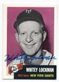 WHITEY LOCKMAN NEW YORK GIANTS AUTOGRAPHED BASEBALL CARD #62416D