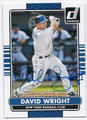 DAVID WRIGHT NEW YORK METS AUTOGRAPHED BASEBALL CARD #62516E