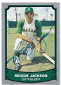 REGGIE JACKSON OAKLAND ATHLETICS AUTOGRAPHED BASEBALL CARD #62816E
