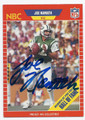 JOE NAMATH NEW YORK JETS AUTOGRAPHED VINTAGE FOOTBALL CARD #62816F