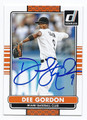 DEE GORDON MIAMI MARLINS AUTOGRAPHED BASEBALL CARD #62916A