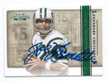 JOE NAMATH NEW YORK JETS AUTOGRAPHED FOOTBALL CARD #62916F