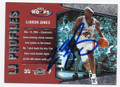 LeBRON JAMES CLEVELAND CAVALIERS AUTOGRAPHED BASKETBALL CARD #63016C