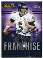 JOE FLACCO BALTIMORE RAVENS AUTOGRAPHED FOOTBALL CARD #70116D