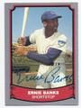 ERNIE BANKS CHICAGO CUBS AUTOGRAPHED BASEBALL CARD #70116E