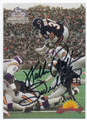 WALTER PAYTON CHICAGO BEARS AUTOGRAPHED FOOTBALL CARD #70216F