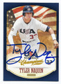 TYLER NAQUIN CLEVELAND INDIANS AUTOGRAPHED ROOKIE BASEBALL CARD #70616A