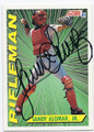 SANDY ALOMAR JR CLEVELAND INDIANS AUTOGRAPHED BASEBALL CARD #70916B
