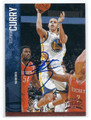 STEPHEN CURRY GOLDEN STATE WARRIORS AUTOGRAPHED BASKETBALL CARD #71116D