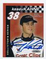 KASEY KAHNE AUTOGRAPHED NASCAR MINI CARD #71116E
